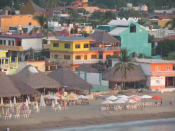 Bungalos Paraiso viewed from the hill
